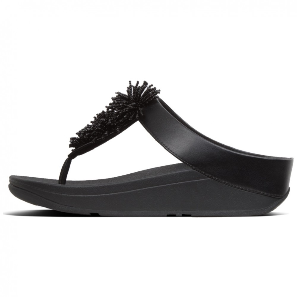 FITFLOP FINO BEAD POMPOM T19 NEGRO FITFLOP